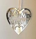 Personalised Wedding Anniversary Heart T9